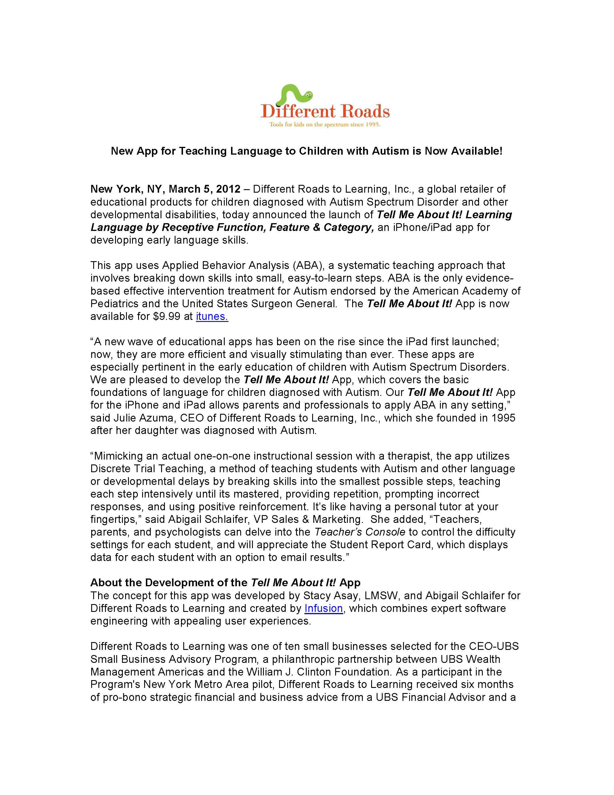 tell me about it app archives different roads to learning tell me about it app press release page 1