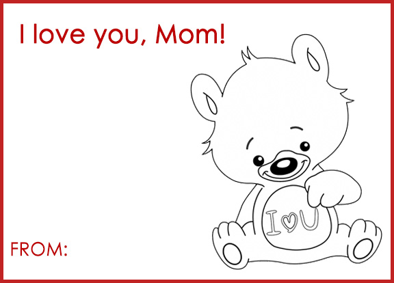 A sweet card for someone you love to say Happy Valentines Day