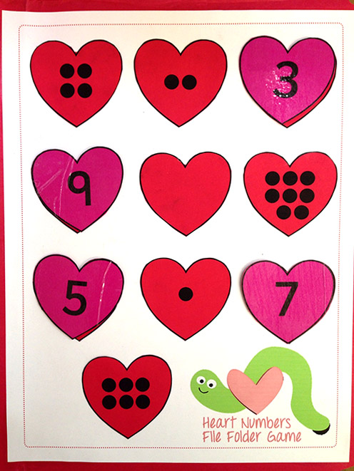 Valentine's Day File Folder Game