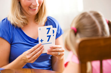 Image result for kid using flash cards