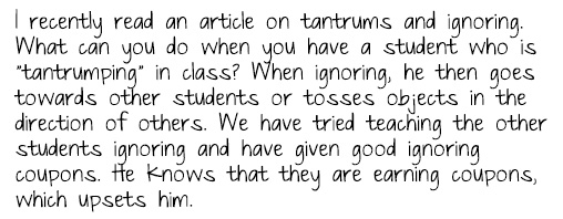 Tantrum Question