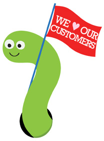We Love Our Customers Worm