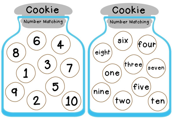 Autism Awareness Month Free Cookie Number Matching Printable